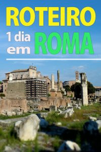 roteiro de 1 dia em Roma